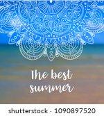 the best summer banner with... | Shutterstock . vector #1090897520