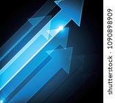 technology abstract arrow... | Shutterstock .eps vector #1090898909