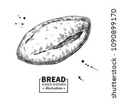 bread vector drawing. bakery... | Shutterstock .eps vector #1090899170