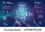 mining bitcoin technology on...   Shutterstock .eps vector #1090899638