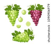 set of colorful icons of grapes.... | Shutterstock .eps vector #1090906979