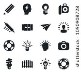 set of vector isolated black... | Shutterstock .eps vector #1090908728