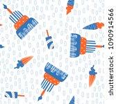 hand drawn seamless pattern... | Shutterstock .eps vector #1090914566