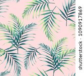 seamless pattern with tropical... | Shutterstock .eps vector #1090917869