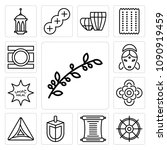 set of 13 simple editable icons ... | Shutterstock .eps vector #1090919459