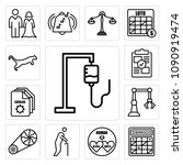 set of 13 simple editable icons ... | Shutterstock .eps vector #1090919474