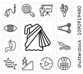 set of 13 simple editable icons ... | Shutterstock .eps vector #1090919480