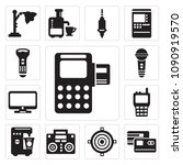 set of 13 simple editable icons ...   Shutterstock .eps vector #1090919570