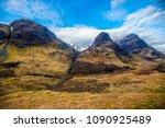 beautiful panorama poster of... | Shutterstock . vector #1090925489
