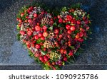 Red Burial Decoration In Heart...