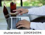 business man using laptop...   Shutterstock . vector #1090934594