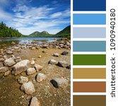 jordan pond  acadia national...   Shutterstock . vector #1090940180