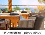 served table set at summer...   Shutterstock . vector #1090940408