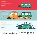car repair set banner. car... | Shutterstock .eps vector #1090945358