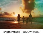 happy family with kids walk at... | Shutterstock . vector #1090946003