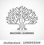 machine learning. artificial... | Shutterstock .eps vector #1090955549