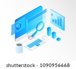 business analysis system ... | Shutterstock .eps vector #1090956668