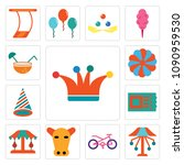 Set Of 13 Simple Editable Icon...
