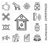 set of 13 simple editable icons ... | Shutterstock .eps vector #1090959620