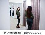brunette gorgeous girl in the... | Shutterstock . vector #1090961723