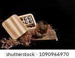 irish whiskey. glass of whisky... | Shutterstock . vector #1090966970