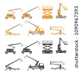 lifting machine icons set. two... | Shutterstock .eps vector #1090967393