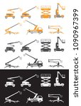 lifting machine icons set.... | Shutterstock .eps vector #1090967399