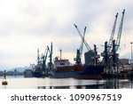 cargo port on black sea in... | Shutterstock . vector #1090967519