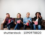 group of friends having a great ... | Shutterstock . vector #1090978820