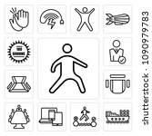 set of 13 simple editable icons ... | Shutterstock .eps vector #1090979783