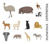 different animals cartoon icons ... | Shutterstock .eps vector #1090980566
