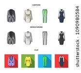 women clothing cartoon flat...   Shutterstock .eps vector #1090980584