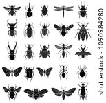 set of insects illustrations on ... | Shutterstock .eps vector #1090984280