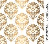 golden vintage vector seamless... | Shutterstock .eps vector #1090986209