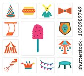 set of 13 simple editable icons ...   Shutterstock .eps vector #1090989749