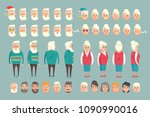 grandparent construction... | Shutterstock .eps vector #1090990016