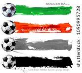 soccer design. hand drawn... | Shutterstock . vector #1090995728