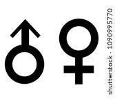 sex symbols icon in flat design ... | Shutterstock .eps vector #1090995770