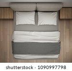 modern bedroom  top view ... | Shutterstock . vector #1090997798