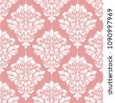 beautiful pink and white floral ... | Shutterstock .eps vector #1090997969
