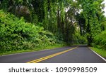 famous road to hana fraught... | Shutterstock . vector #1090998509