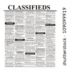 fake classified ad  newspaper ... | Shutterstock . vector #109099919