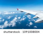 clouds and sky sunny day... | Shutterstock . vector #1091008004