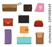 flat vectoe set of stylish... | Shutterstock .eps vector #1091008169