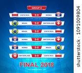 soccer 2018 championship... | Shutterstock .eps vector #1091009804