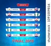soccer 2018 championship... | Shutterstock .eps vector #1091009816