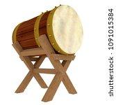 3d illustration bedug  drum for ... | Shutterstock . vector #1091015384
