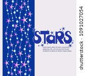 stars. poster with ornament.... | Shutterstock .eps vector #1091027054