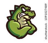 crocodile alligator esport... | Shutterstock .eps vector #1091027489