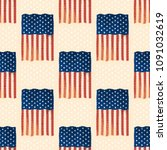 independence day usa flags... | Shutterstock .eps vector #1091032619